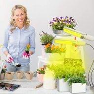 PROFI LED lampa so zabudovaným časovačom a stmievačom na všetky rastliny, sunlight, 12W, dvojramenná