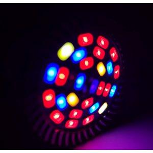 5W - PROFI LED GROW žiarovka pre všetky rastliny, GU10, High-power+, ružovo-modrá