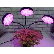 PROFI LED GROW trojramenná lampa so zabudovaným časovačom a stmievačom pre všetky rastliny, 45W - plné spektrum