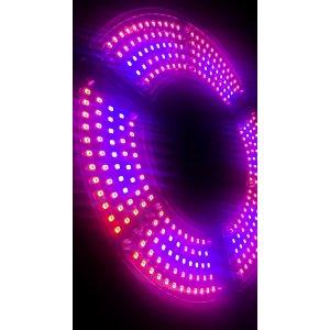 60 W - PROFI LED GROW žiarovka pre všetky rastliny s 3 ľahko nastaviteľnými časťami, E27, High-power+ ružová